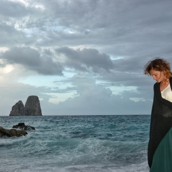 Walking away from the storm - Capri Honeymoon