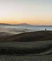 Alba autunnale in Val d'Orcia