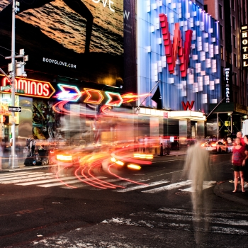 Ghosts in Time Square, NYC