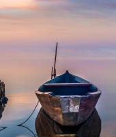 boat sunrise fine art