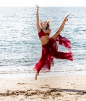 Dancer at the seaside