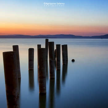 Dawn at Trasimeno lake