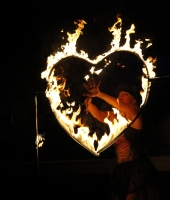 Heart shaped fire
