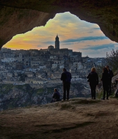Matera view from Murgia Timone