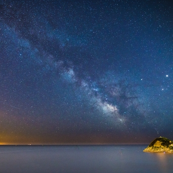 Milky Way Over The Sea.
