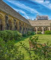 Oxford University, New College , the  cloister ...