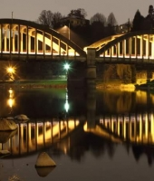 Ponte di Brivio by night