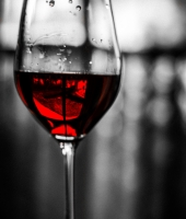 Red Glass and Mirror Wine