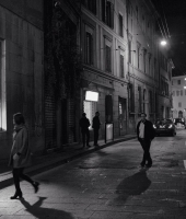reportage of a night in Bologna