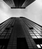 skyscapers bw