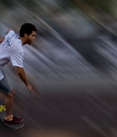 speed skateboarder