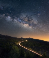 Starry road