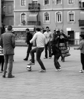 Street football in Barcellona - Street Photography