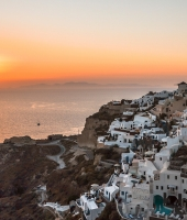 The Oia sunset