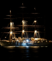 The «SEA CLOUD» by night...