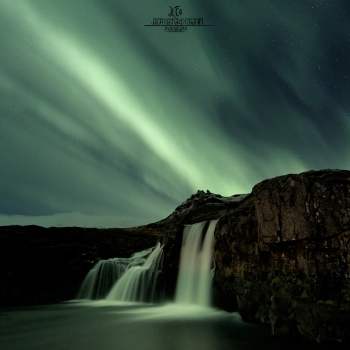 The Waterfall and The Northern Lights