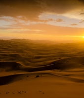 Tramonto sulle dune