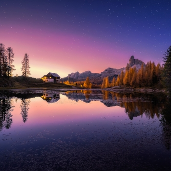 Twilight al lago Federa