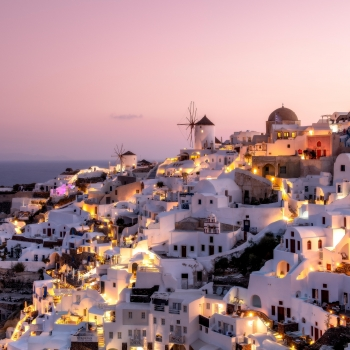 Twilight in Santorini