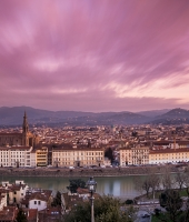 Windy sunrise in Florence